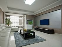 Spacious living room Stock Photos