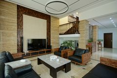 Spacious living room Royalty Free Stock Photos