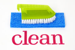 Clean - sponges and brush Stock Photography