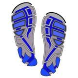 Clean  Sport Shoe Imprints Stock Photography