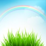Clean spring amazing scenery. Vector illustration. EPS 10 Stock Photo