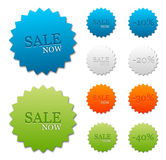 Clean stickers. Vector clean stickers or tags on selling retail theme Royalty Free Stock Photos