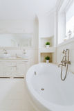 Clean and stylish bathtub Royalty Free Stock Photo