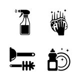 Clean surface. Simple Related Vector Icons Royalty Free Stock Photos