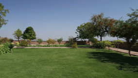 Clean sward by garden houses of Jaswant Thada temple in Jodhpur. stock video