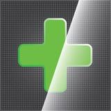 Clean symbol för grönt kors Arkivbild