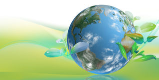 Clean tech world. For Business Card and graphic campaign Royalty Free Stock Photography