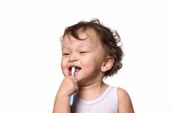 Clean a teeth. Royalty Free Stock Images