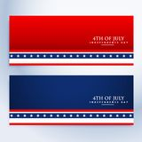 Clean 4th of july american banners Stock Photos