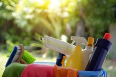 Clean things on the bokeh background stock photos