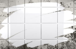 Clean tile wall bathroom background Royalty Free Stock Images