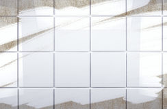 Clean tile wall bathroom background Royalty Free Stock Photography