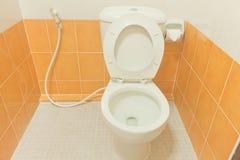 Clean toalettbadrum. Arkivfoto