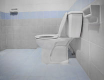 Clean toilet flush bowl bathroom Stock Image