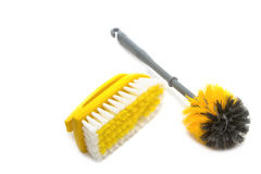 Clean tool,Plastic toilet brush Stock Photos