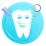Clean tooth. Cheerful, clean dental Royalty Free Stock Photo