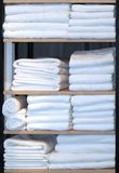 Clean towels shelves Royalty Free Stock Images