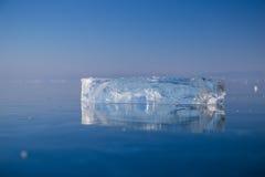 Clean transparent ice Stock Photo