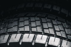 Clean Truck Tyre, black new shiny car tire Royalty Free Stock Image