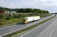 Clean trucking in the country Royalty Free Stock Images