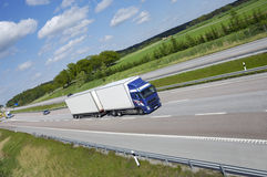 Clean trucking on highway Royalty Free Stock Images