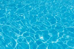 Clean turquoise water in the swimming pool as a background or backdrop Stock Photos