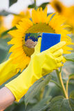 Clean up the environment. Earth day concept Stock Photo
