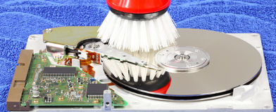 Clean up hard drive Royalty Free Stock Images