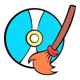 Clean up hard drive icon cartoon Stock Photo