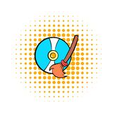 Clean up hard drive icon, comics style royalty free illustration