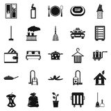 Clean up icons set, simple style Royalty Free Stock Image