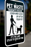 A clean up after pet sign Stock Photography