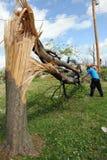 Clean Up After Saint Louis Tornadoes. SAINT LOUIS, MISSOURI - APRIL 26: Clean up after tornadoes hit the Saint Louis area on Friday April 22, 2011 Stock Image