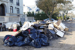 Clean up started in the aftermath of Hurricane Sandy in Far Rockaway, New York Royalty Free Stock Photography