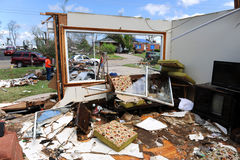 Clean Up After Tornadoes. SAINT LOUIS, MISSOURI - APRIL 26: Clean up after tornadoes hit the Saint Louis area on Friday April 22, 2011 Stock Image