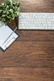 Clean up wooden desk Stock Photography