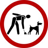 Clean up after your dog Royalty Free Stock Photography
