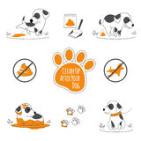 Clean up after your dog illustration Stock Images