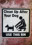 Clean up after your dog. Sign Stock Photography