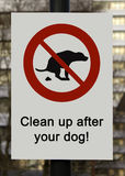 Dog shit sign Royalty Free Stock Image