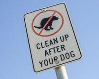Clean Up After Your Dog Sign. Stock Photos