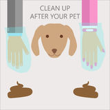 Clean up after your pet Stock Image