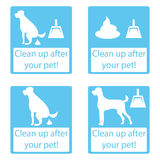 Clean up after your pet. Set icon. Royalty Free Stock Photos