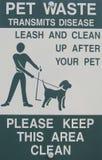 Clean up after your pet sign Stock Photos