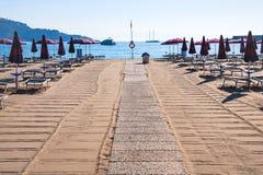 Clean urban beach in giardini naxos town Stock Image