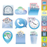Clean vector icon set Royalty Free Stock Images
