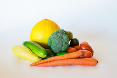 Clean Vegetable Arrangement Royalty Free Stock Image