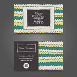 Clean Visit Card Design. Visit Card. Handdraw Business Card Design Stock Photography