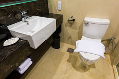 Clean washroom and sink Stock Images