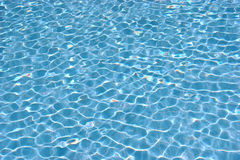 Clean water. Close-up of transparent azure swimming pool with clean water Royalty Free Stock Image
